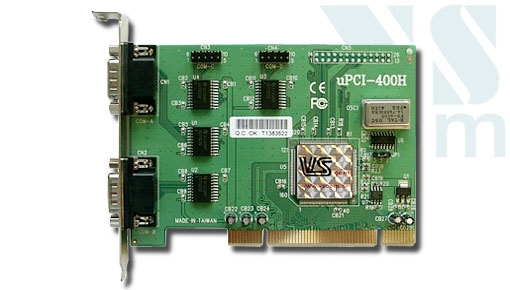 VScom 400H UPCI, a 4 Port RS232 PCI card, 16C950 UART