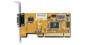 VScom 100L UPCI, a 1 Port RS232 PCI card, 16C550 UART