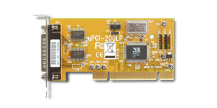 VScom 200L UPCI, a 2 Port RS232 low profile PCI card, 16C550 UART