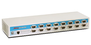 VScom NetCom 1613RM PRO, a 16 port Serial Device Server for Ethernet/TCP to RS232/422/485, for 19-inch and AC power supply